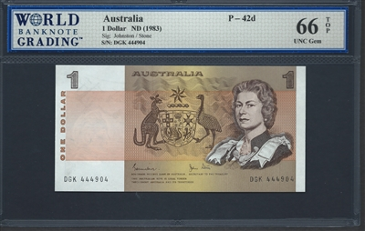 Paper Money: World Australia 1 Dollar 1983 Unc Best Price!!! Australia & Oceania